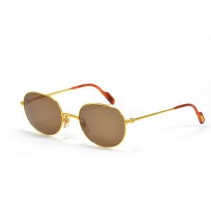 occhiali da sole vintage Cartier Antares T8000205 oro con lenti marrone