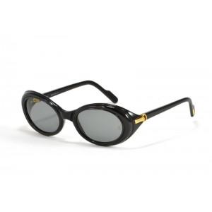 occhiali da sole vintage Cartier Frisson T79078  nero con lenti grigie