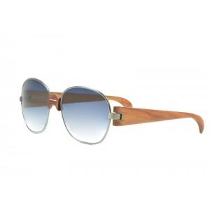 occhiali da sole vintage Trussardi Silver Wood 2