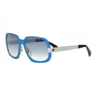 vintage Pierre Cardin aluminum blue sunglasses