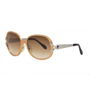 vintage Pierre Cardin aluminum salmon-pink sunglasses